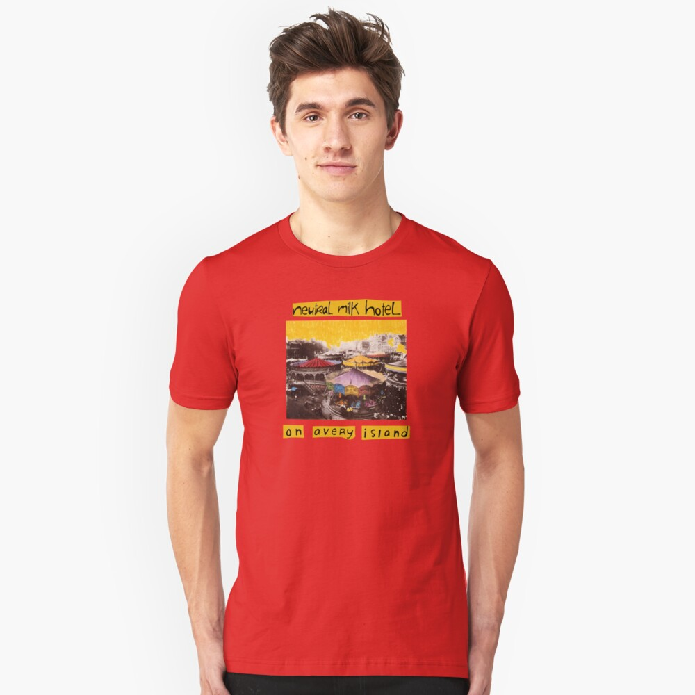 Neutral Milk Hotel - Auf Avery Island Slim Fit T-Shirt