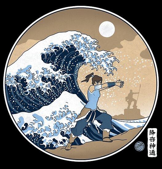 Avatar Waterbender Große Welle von Adho1982