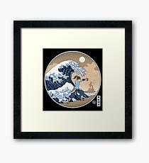 Avatar Waterbender Great Wave Framed Print