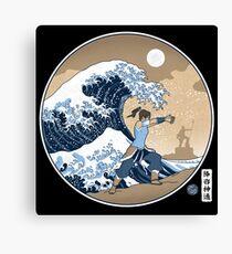Avatar Waterbender Great Wave Canvas Print