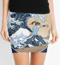 Avatar Waterbender Great Wave Mini Skirt
