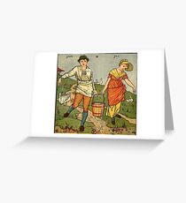 Walter Crane, jack and jill Greeting Card