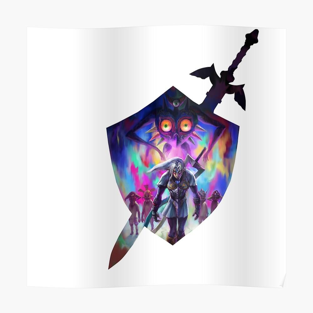 espada y escudo zelda Póster