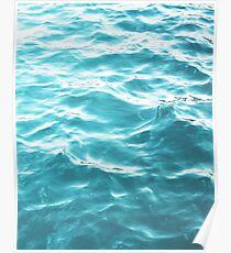 Landschaft blaues Wasser Poster