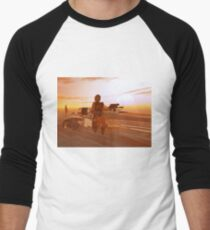 ARES CYBORG IN THE DESERT OF HYPERION,Sci Fi Movie Men's Baseball ¾ T-Shirt