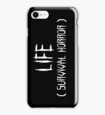 LIFE (survival horror) (White) iPhone Case/Skin