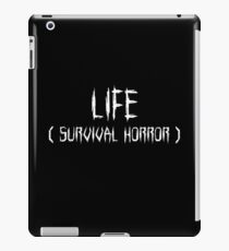 LIFE (survival horror) (White) iPad Case/Skin