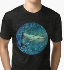 Moonlit Sea Tri-blend T-Shirt