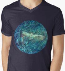 Moonlit Sea Men's V-Neck T-Shirt