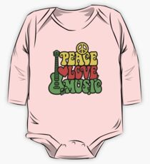 Reggae Peace Love Music One Piece - Long Sleeve