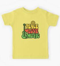 Reggae-Friedensliebes-Musik Kinder T-Shirt
