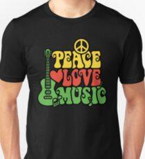 Reggae Peace Love Music Unisex T-Shirt