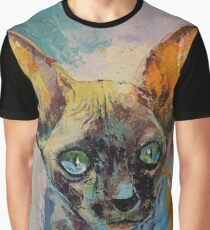 Sphynx Cat Portrait Graphic T-Shirt
