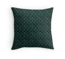 Murky Mermaid Scales Throw Pillow