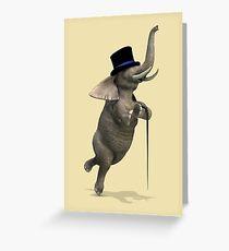Tap Dancing Elephant Greeting Card