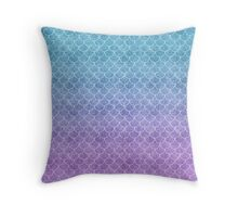 Mermaid Scales in Cotton Candy Throw Pillow