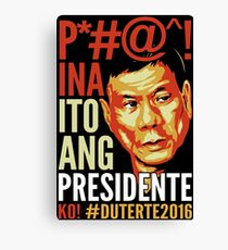 Duterte Canvas Print