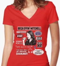 Beca Mitchell - Pitch Perfect - Anna Kendrick - Bechloe Women's Fitted V-Neck T-Shirt