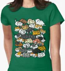 Neko Atsume Sleepy Kitties Women's Fitted T-Shirt