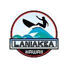 Surfing LANIAKEA OAHU HAWAII Surf Surfer Surfboard Waves Ocean Beach Vacation Stickers by MyHandmadeSigns