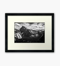 Half Dome black and white Framed Print