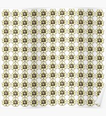 Yellow flowers on white Poster
