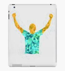 Happy Soccer Player Illustration iPad Case/Skin