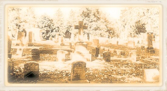 """"""" 'THE CEMETERY', a Series, #15, Above all, the Cross """"... prints and products by © Bob Hall"""