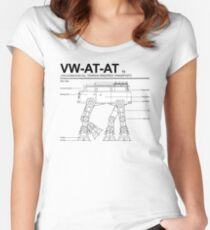 VW Westfalia AT-AT T2 Blueprint Women's Fitted Scoop T-Shirt
