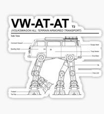VW Westfalia AT-AT T2 Blueprint Sticker