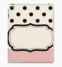 Vintage wedding Card with copy space iPad Case/Skin