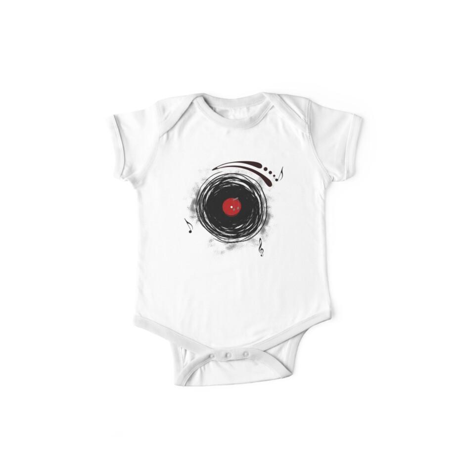 Vinyl Records Retro Grunge by Denis Marsili