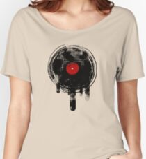 Melting Vinyl Records Vintage Women's Relaxed Fit T-Shirt