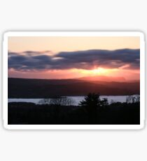 Sunset over North Donegal Sticker