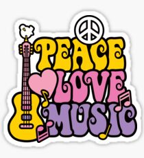Peace, Love, Music Sticker