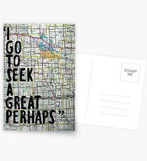 Ich gehe, um ein großes vielleicht ~ Zitat zu suchen Postkarten