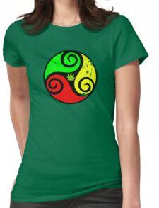 Reggae Love Vibes - Cannabis Reggae Flag Womens Fitted T-Shirt