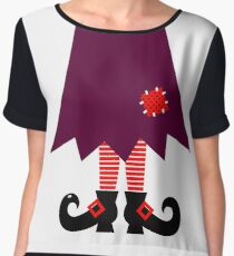 Cartoon Witch legs Vector Illustration Chiffon Top