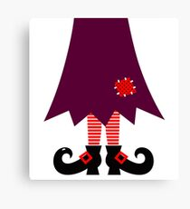 Cartoon Witch legs Vector Illustration Canvas Print