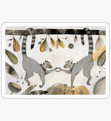 Lemurs In Love Sticker