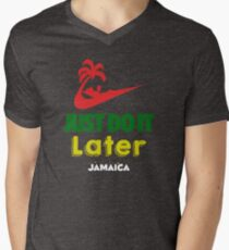 Just Do it Later Jamaica Mens V-Neck T-Shirt