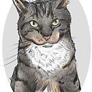 Spewsh the Tabby Cat by Kristina S