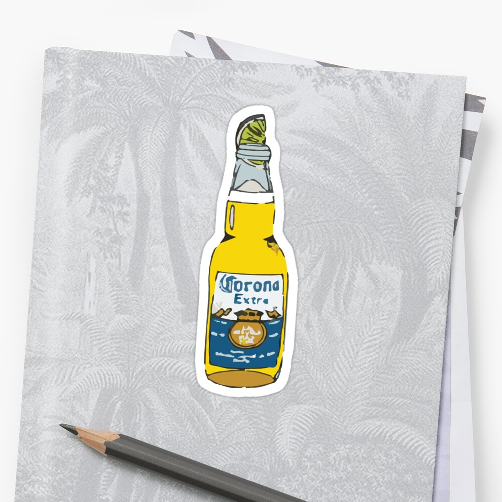 Beer with Lime Sticker