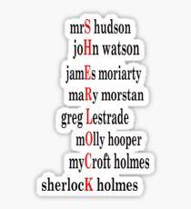 Sherlock acrostic  Sticker