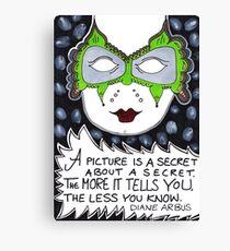 A Picture Is A Secret Canvas Print
