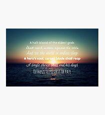 Percy Jackson Prophecy Sunset Photographic Print