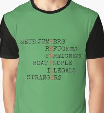 REFUGEES ARE PEOPLE Graphic T-Shirt