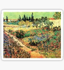 'Flowering Garden With Path' by Vincent Van Gogh (Reproduction) Sticker
