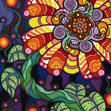 Psychedelic Flower by buggybear