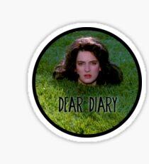 Heathers-Dear Diary Sticker